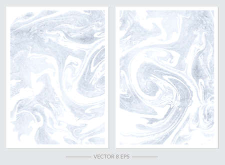 Vector. Set of hand drawn watercolor marble textures. Set of cards with gentle marble textures for your design, logo, postcard, invitation, save the date. 向量圖像