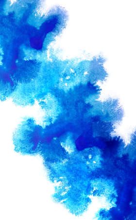 Background with beautiful watercolor blot. Isolated on white background hand drawn watercolor blot for postcard, banner, business card and other.