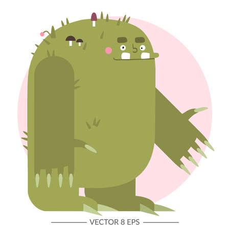 Vector. Flat style fantasy monster.