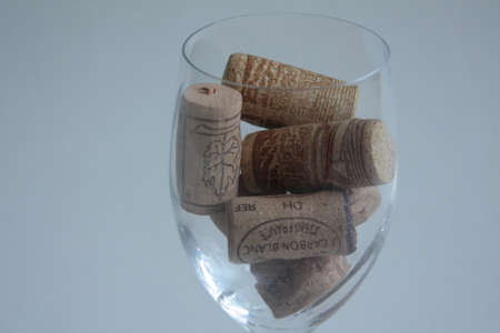corkwood: wine Stoppers in the wineglass