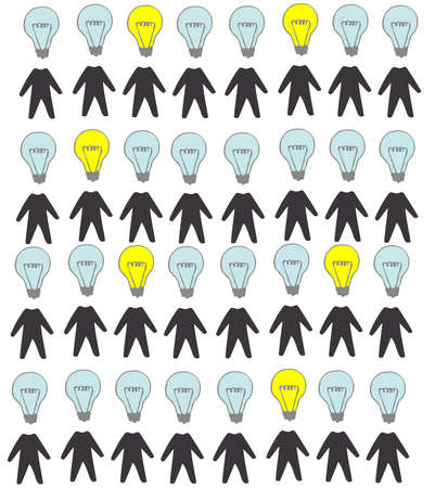 silhuette: Many silhuette people with genius idea conceptual vector design genius idea conceptual vector design