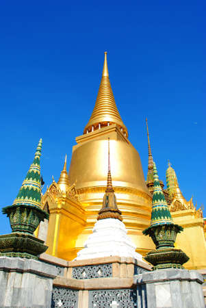 Stupa in Wat Pra Kaew Thailand photo