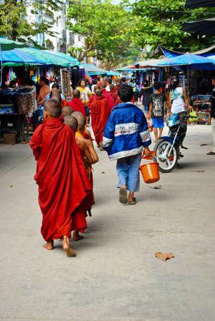 monk in Myanmar