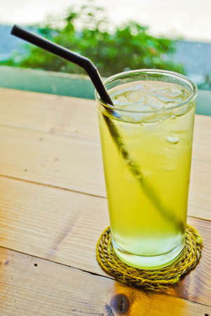 Iced green tea photo