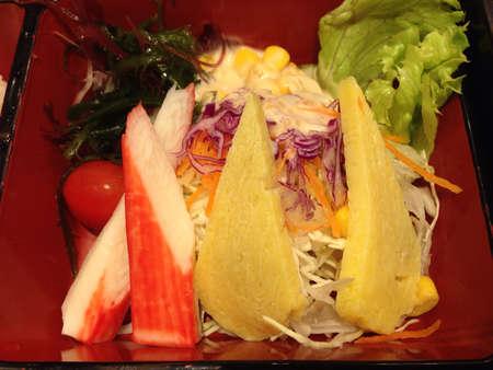 bento: Salad in bento box Stock Photo