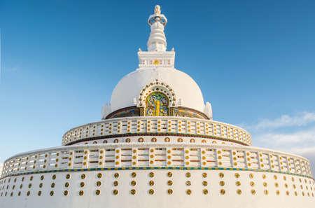 shanti:  Shanti Stupa Stock Photo