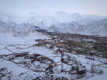 leh: Landscape of mountain in Leh