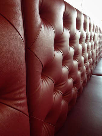 red sofa: Red leather sofa Stock Photo