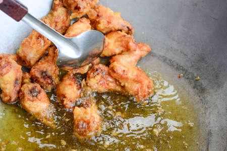 deep fried: deep fried chicken Stock Photo