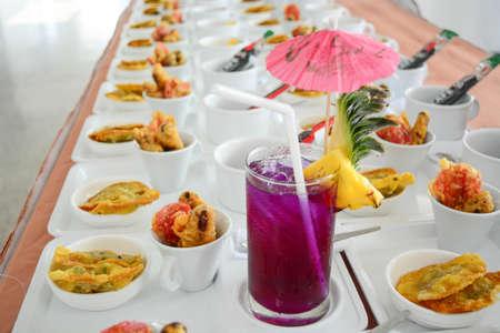 deep fried gyoza with soft drink photo