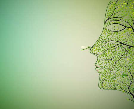 나무, 일러스트