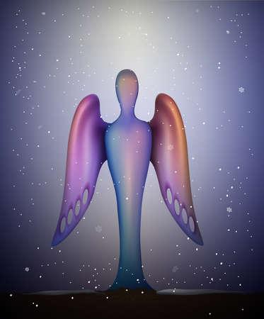 surrealistic: Futuristic angel symbol Illustration