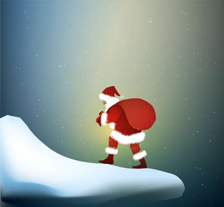 Santa goes through the snowdrift, Santa s long way,