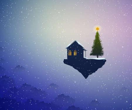 Urlaub im Traumland, Santa Haus, Standard-Bild - 91017240