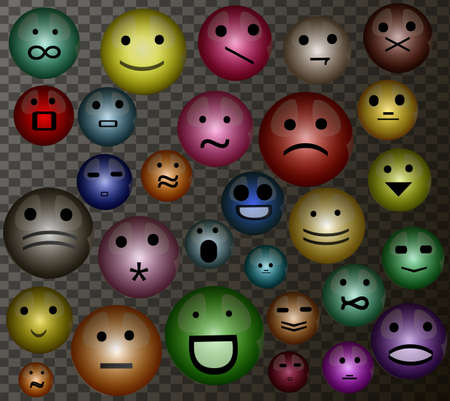 set of face expressions, Stock Photo
