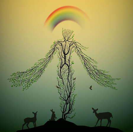 Spirit of the forest 일러스트