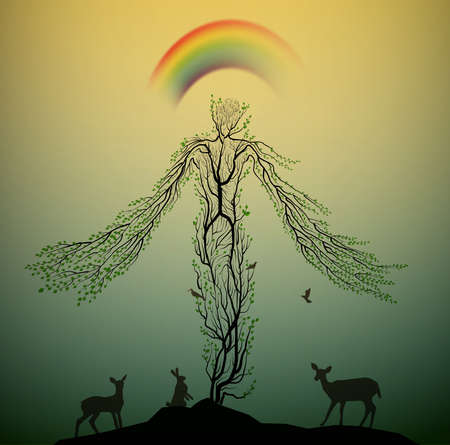 Spirit of the forest Illustration