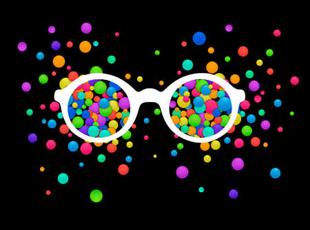 colorful view concept, vivid expression concept, look bright idea, vector