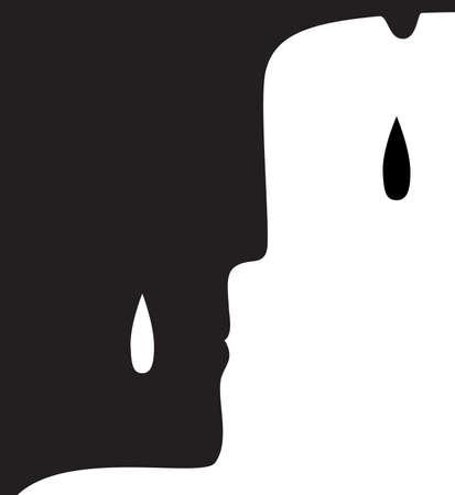 concept de chagrin, idée de chagrin et de cri, vecteur