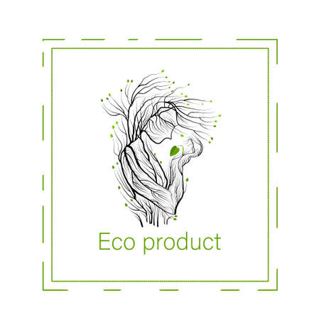 eco product concept, man like tree holding green leaf sprout, green product eco care idea, vector 스톡 콘텐츠 - 125887909