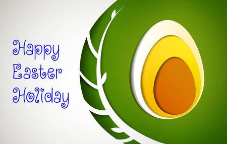 Easter egg design, Easter holiday card, vector Stock Illustratie