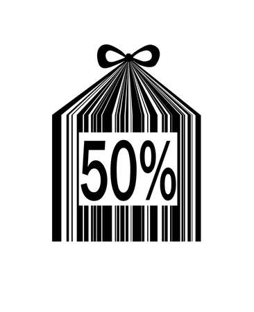 holiday sale bar code concept,