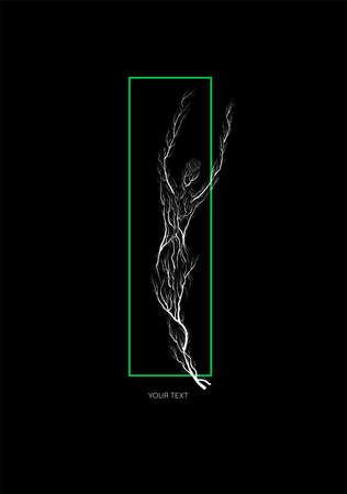 tree modern creative design, man like tree on the black background, concept 向量圖像