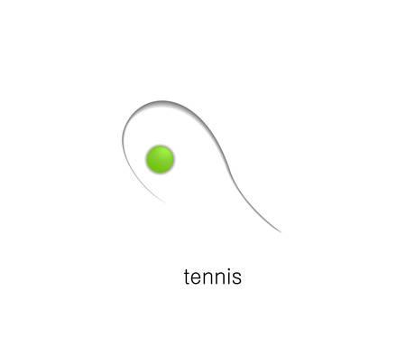 tennis creative idea on the white background, simple tennis 일러스트