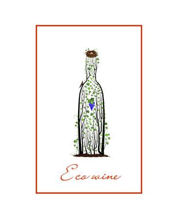 Secret of wine concept, bottle of wine