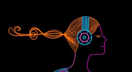 sound girl line style