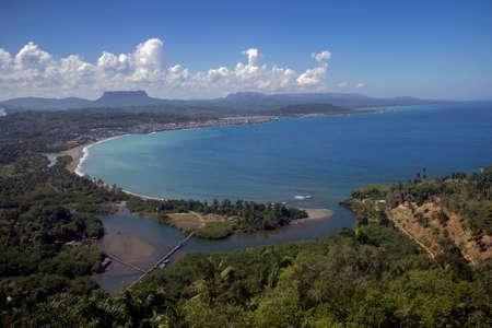 BARACOA BAY IN GUANTANAMO PROVINCE.HIGH VEW. Stock Photo