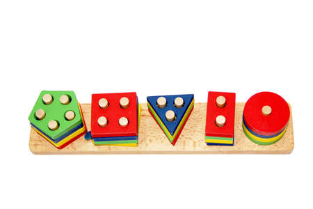 curator: Colourful shapes for childrens play Stock Photo