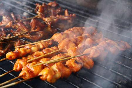 pollos asados: Pollo asado con humo