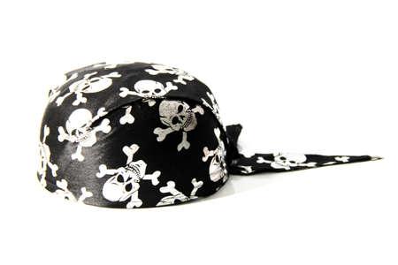 sombrero pirata: sombrero de pirata aislado en el fondo blanco Foto de archivo