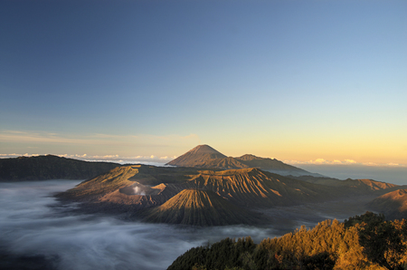 Sunrise at Bromo mountain, Indonesia