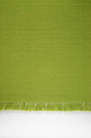terrycloth: Green table napkin surface pattern