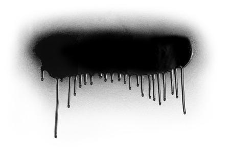 Vernice spray di colore nero o elemento di design graffiti su uno sfondo bianco Archivio Fotografico - 52126534