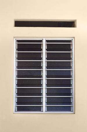 louver: Aluminum Louver or glass shutter windows Stock Photo