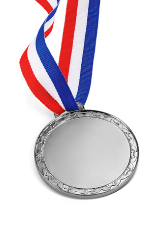silver medal: silver medal isolated on a white background