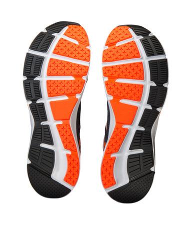클리핑 패스와 함께 흰색 배경에 고립 된 실행 신발 단독 스톡 콘텐츠