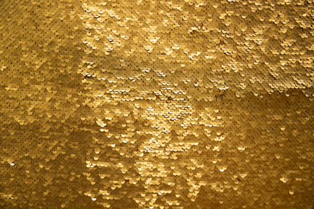 Golden and iridescent sequins texture background Reklamní fotografie - 95431405