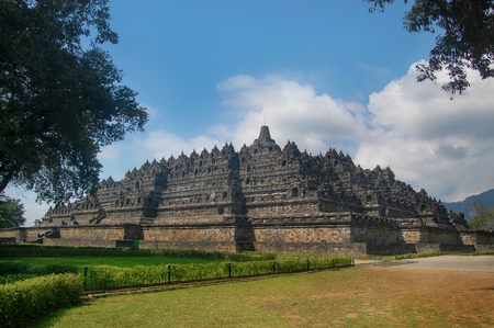 Borobudur Temple at day time, Yogyakarta, Java, Indonesia.