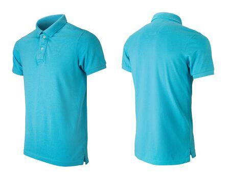 Modello di disegno della maglietta polo grigio isolato su bianco