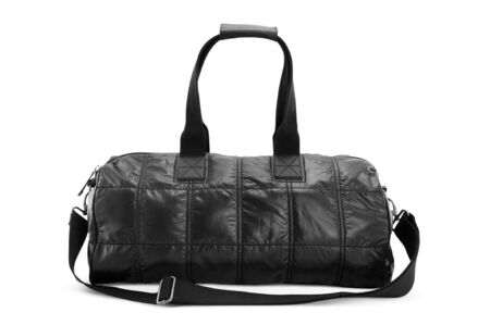 Black travel bag isolated on white