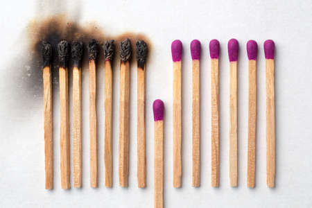 Have a match to give up and avoid other being burned Reklamní fotografie