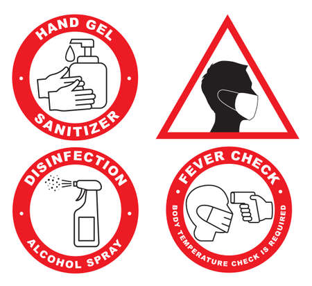 COVID-19 prevention icon isolated on white background