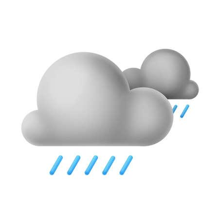 Cloud weather symbol isolated on white background Reklamní fotografie