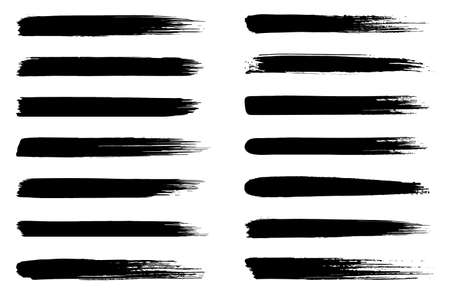 Set of vector brush strokes