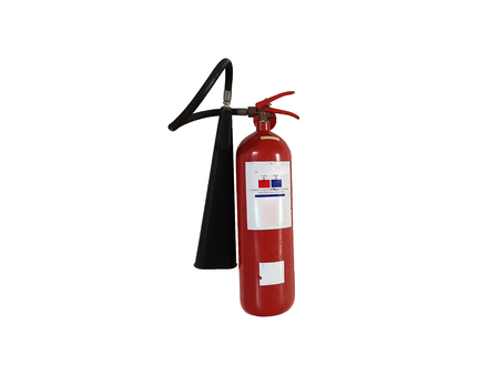 to maintain: Old Fire Extinguisher need to maintain or check up, isolated on white background