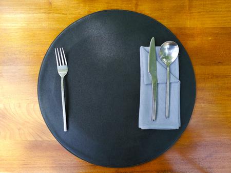 Table setting on the wooden table Reklamní fotografie